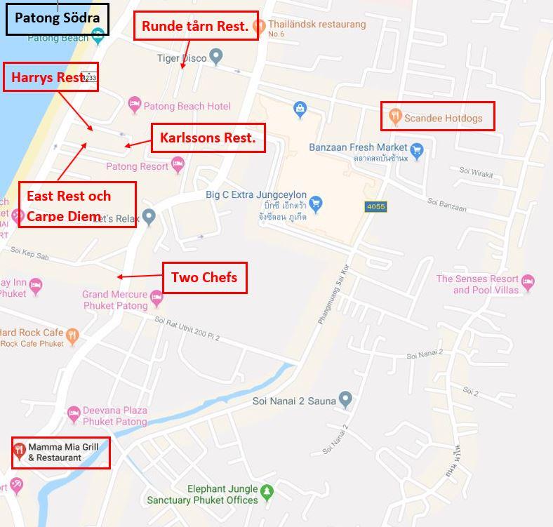 Karta Thailand Patong.Kartor Skandinaver Pa Phuket